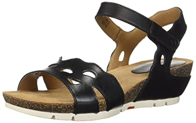 913136ceed4c Josef Seibel Women s Hailey 25 Wedge Sandal Black 42 Medium US
