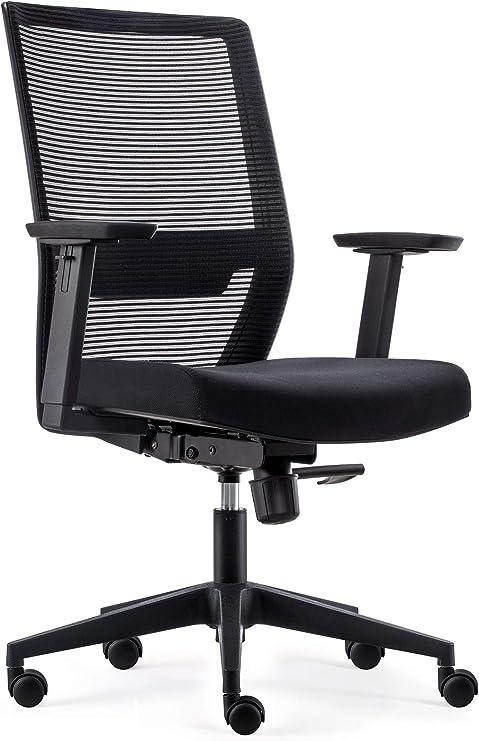 Bens 851 Eco 2 Ergonomic Office Chair With Wheels In Black Adjustable Desk Chair Height Adjustable Swivel Chair For Office High Quality Office Chair With Lumbar Support Amazon De Kuche Haushalt
