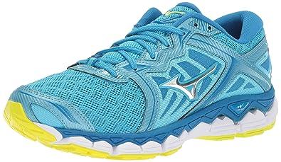 pretty nice 07150 4e40e Mizuno Running Women s Wave Sky Running Shoes, Aquarius-Silver, ...