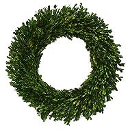 Preserved Boxwood Garden Wreath - 22 Inch