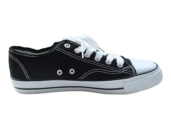 Octave Tennis basses à lacets - style classique - toile - homme - noir/bout  blanc - hommes EU 40œ: Amazon.fr: Chaussures et Sacs