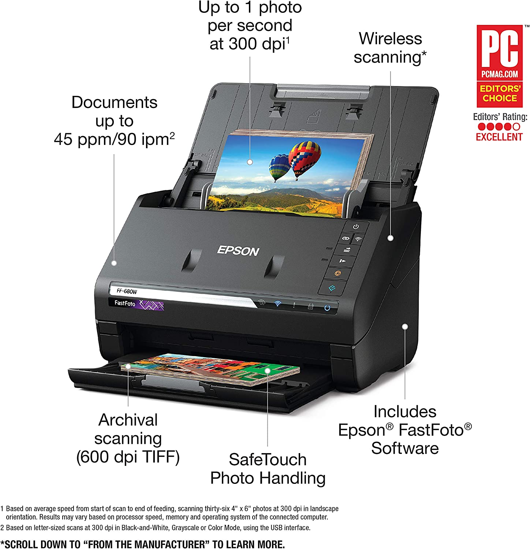 Epson FastFoto FF-680W Wireless High-Speed Photo Scanner