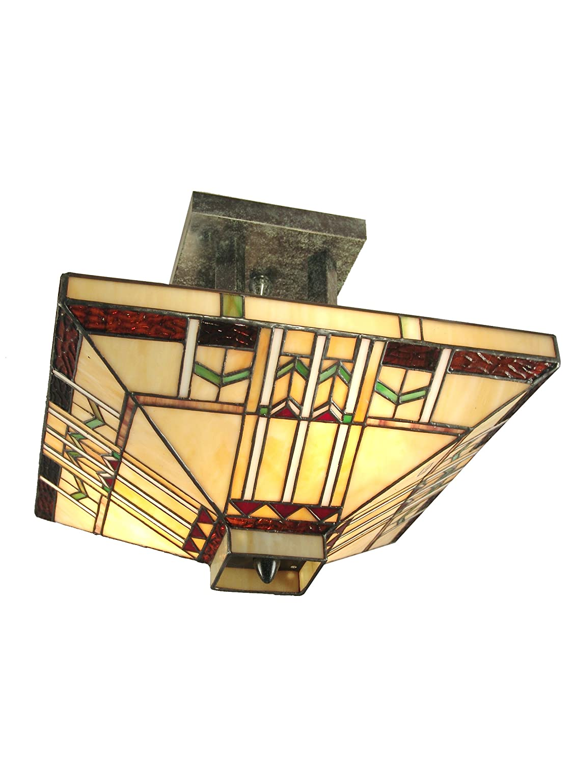 Dale tiffany th70332 san carlos flush mount light antique bronze dale tiffany th70332 san carlos flush mount light antique bronze and art glass shade close to ceiling light fixtures amazon aloadofball Image collections