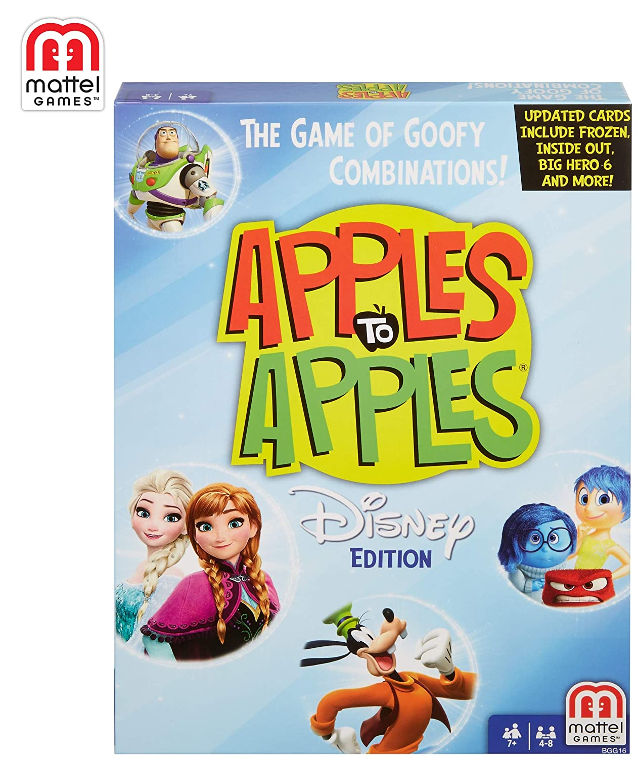 Amazon.com: Juego de cartas de Disney Apples to Apples: Toys ...