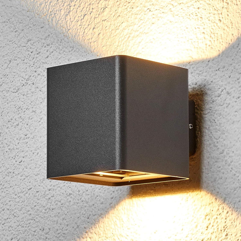 Garagen Lureshine LED Au/ßenleuchte mit Radarwarner Wandleuchte 18W 1800LM Au/ßenlampe 6000K Kaltwei/ß IP65 Wasserdicht Au/ßenbeleuchtung Geeignet f/ür Au/ßenw/ände Tore usw. G/ärten