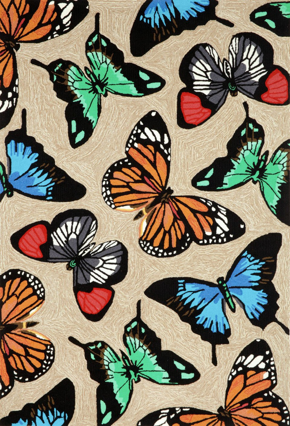 TransOcean Butterfly Dance Rug Frontporch Collection