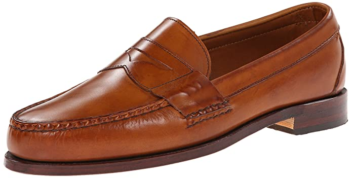 Men's 1950s Shoes Styles- Classics to Saddles to Rockabilly Allen Edmonds Mens Cavanaugh Penny Loafer £258.67 AT vintagedancer.com
