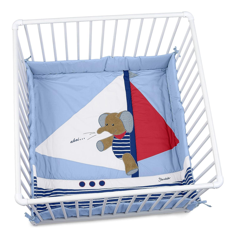 Sterntaler Playpen Pad, 100 x 100 cm/75 x 100 cm, Erwin The Elephant 9141730