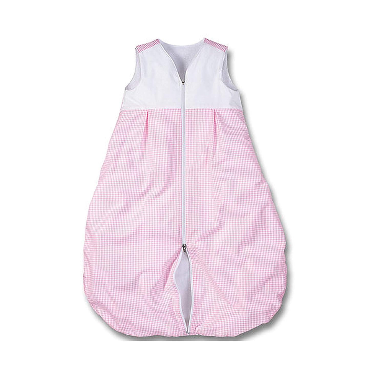 mit Frottee gef/üttert rosa-wei/ß Vichykaro f/ür M/ädchen wellyou Kinder-Baby-Schlafsack