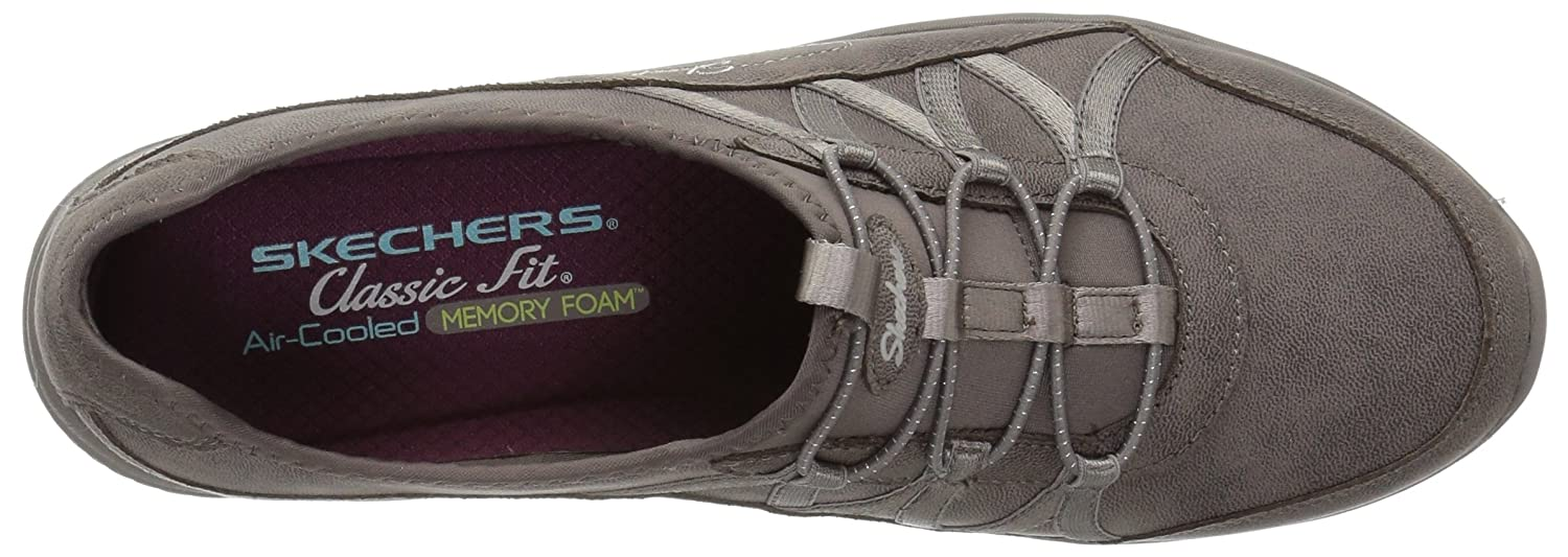Skechers Damen Be-Light-Well-to-do Slip Sneaker On Sneaker Slip Dunkles Braungrau 381bf2