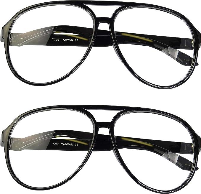 Oversize Squared Aviator Clear Lens Glasses Nerd Retro Turbo Tortoise frame