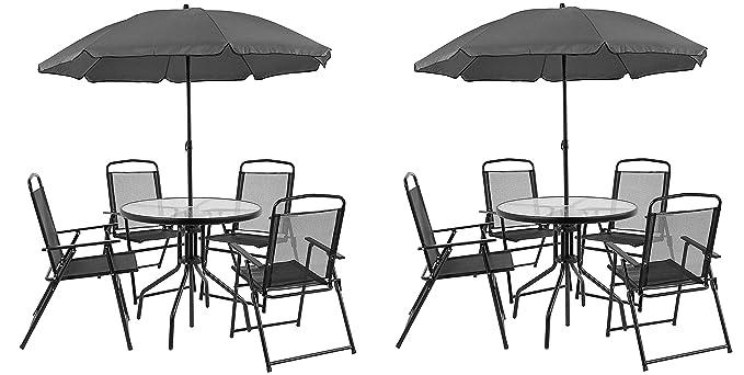Amazon.com: Flash Furniture Nantucket Juego de 6 piezas de ...