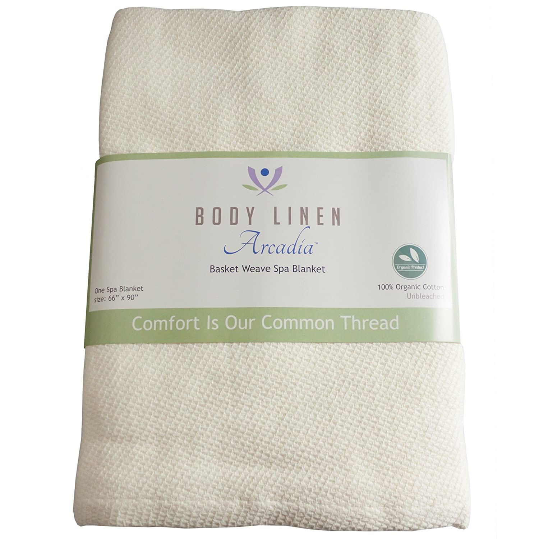 Spa Basket Weave Organic Massage Table Thermal Blanket Body Linen