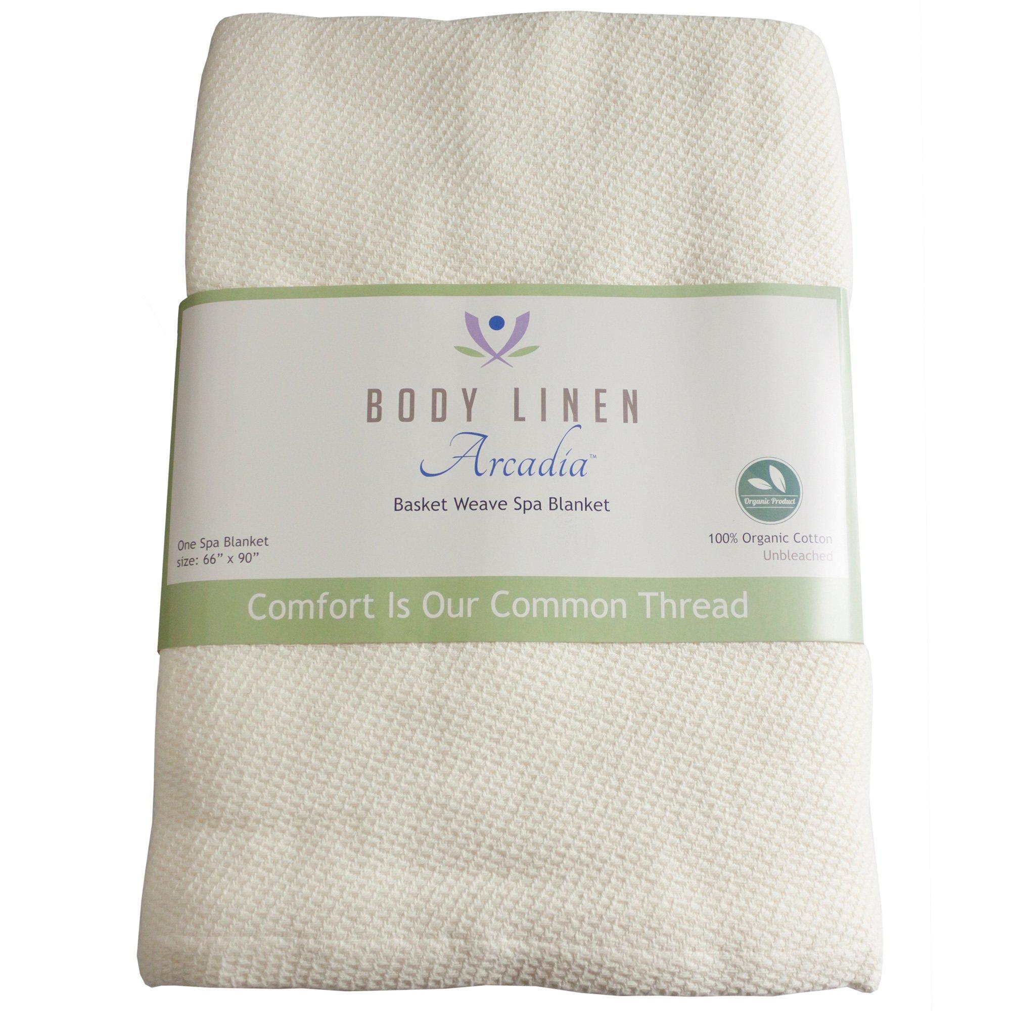 Body Linen Organic Basket Weave Spa Blanket by Body Linen