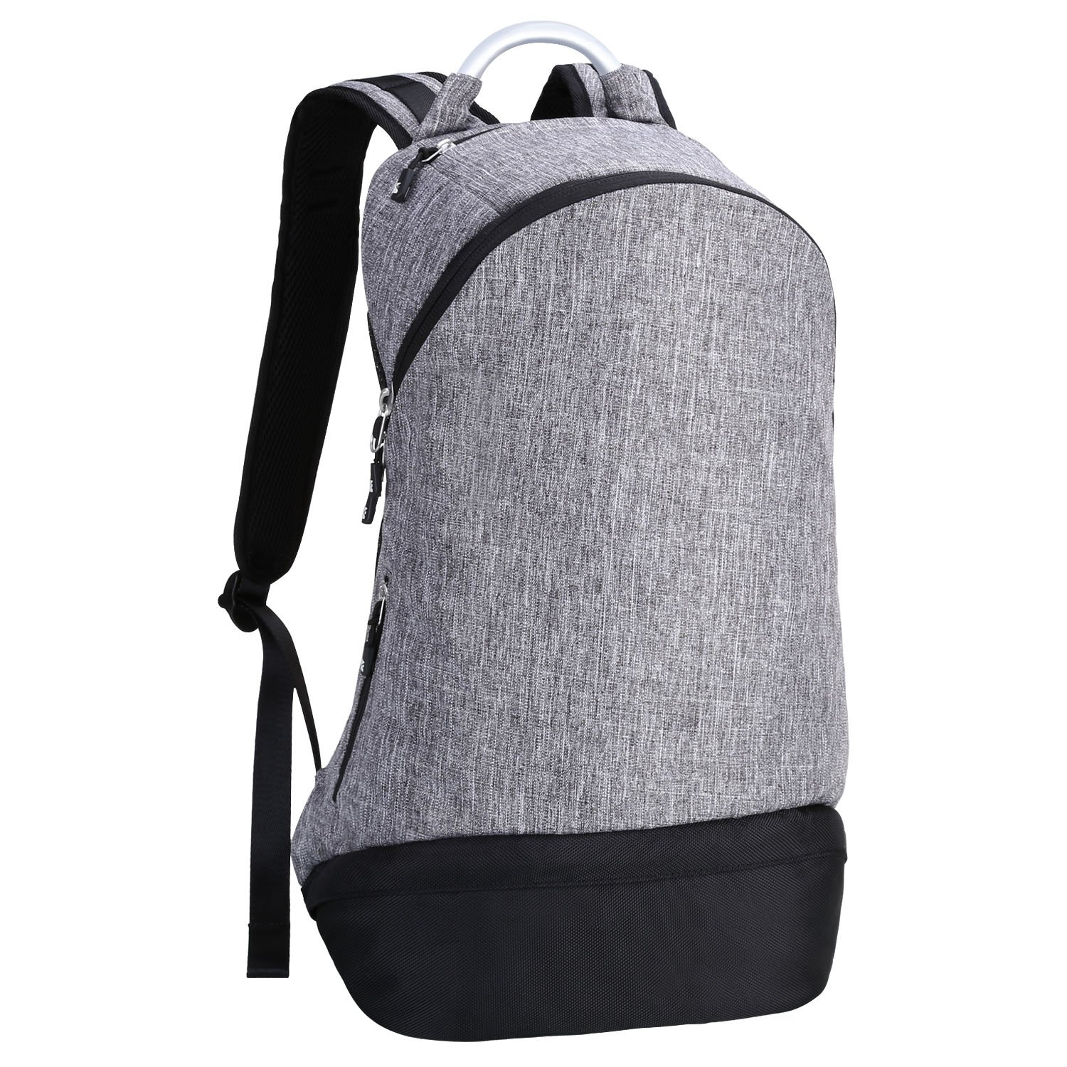 Back to School,Backpack, REYLEO, 22L, Fits 15.6'' Laptop, Wet Dry Compartment for Lunch Box, Metal Handle, Durable Fabric for School Business Work Travel, Gray/Black (RB16)