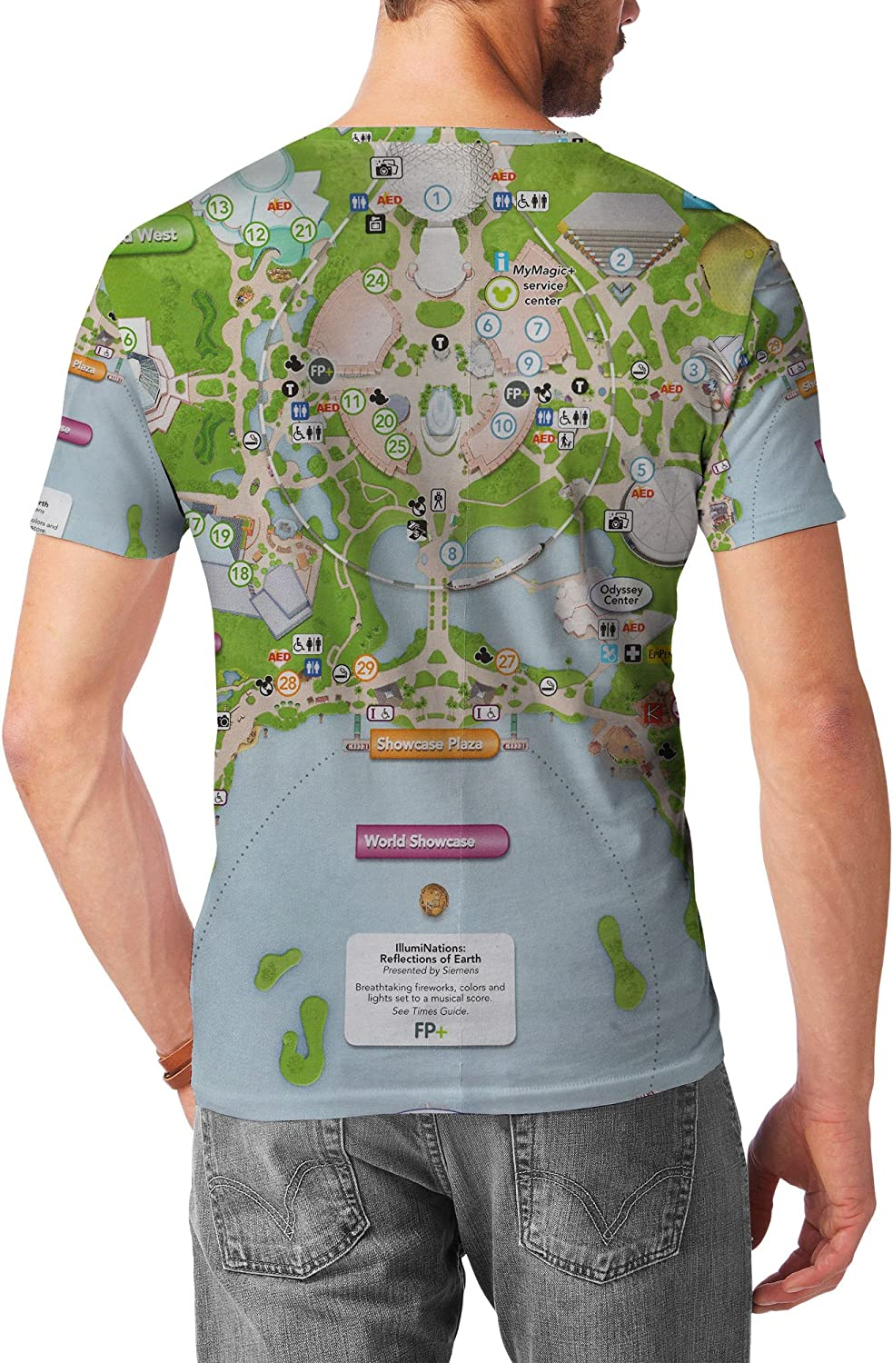 Queen of Cases Epcot Center Map Mens Longsleeve Tee