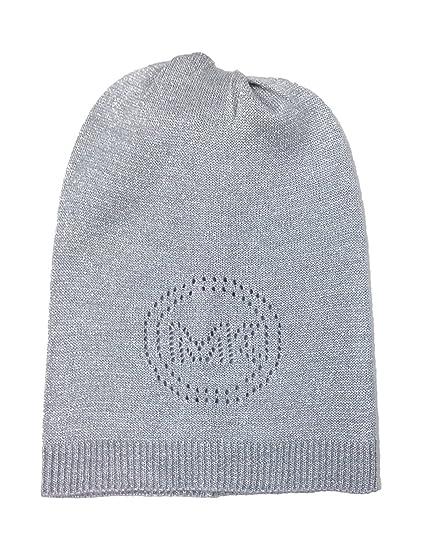 9dbcbf1bf MICHAEL Michael Kors Women's Perforated Logo Lurex Hat (One Size ...