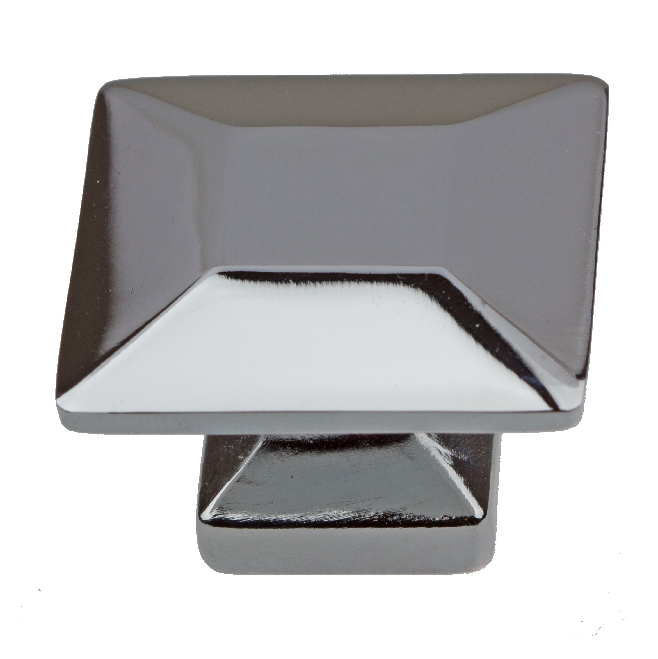GlideRite Hardware 5101-PC-100 1.375 inch Polished Chrome Square Cabinet Knobs 100 Pack