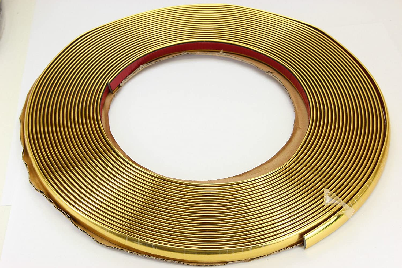 Gold Chrom Zierleiste 10mm X 15m Selbstklebend Universal Auto Goldleiste Kontur Auto