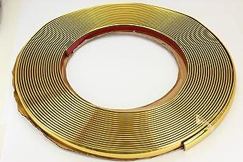 Gold Chrom Zierleiste 12mm X 15m Selbstklebend Universal Auto Goldleiste Kontur Auto