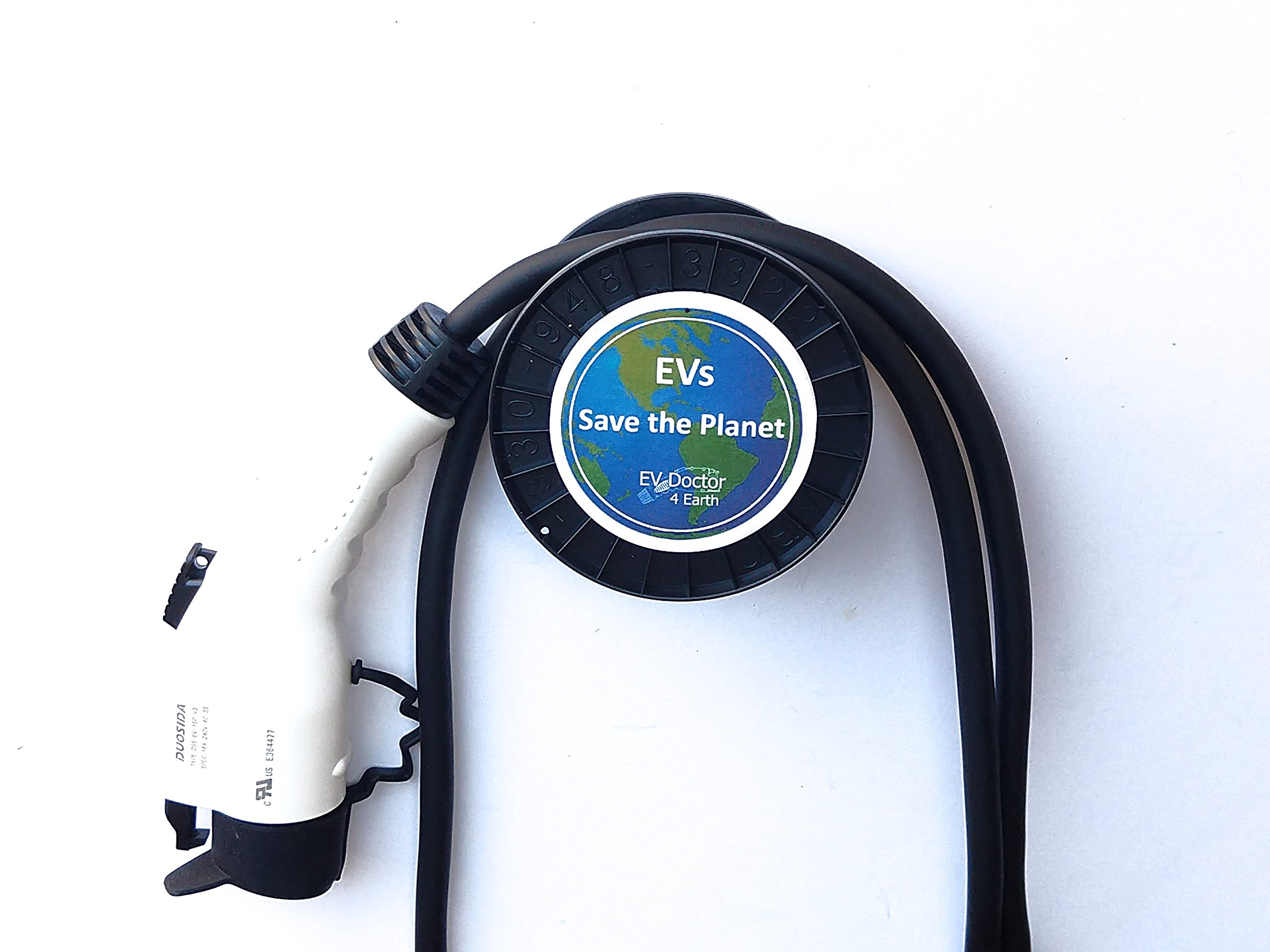 EVDoctor The 1 Original EV-Cable-Hanger protects the cable and J1772 handle of Level 1 and Level 2 Electric Vehicle Car Chargers (EVSE). Bonus items: Rain Bonnet and EVs Save the Planet Sticker