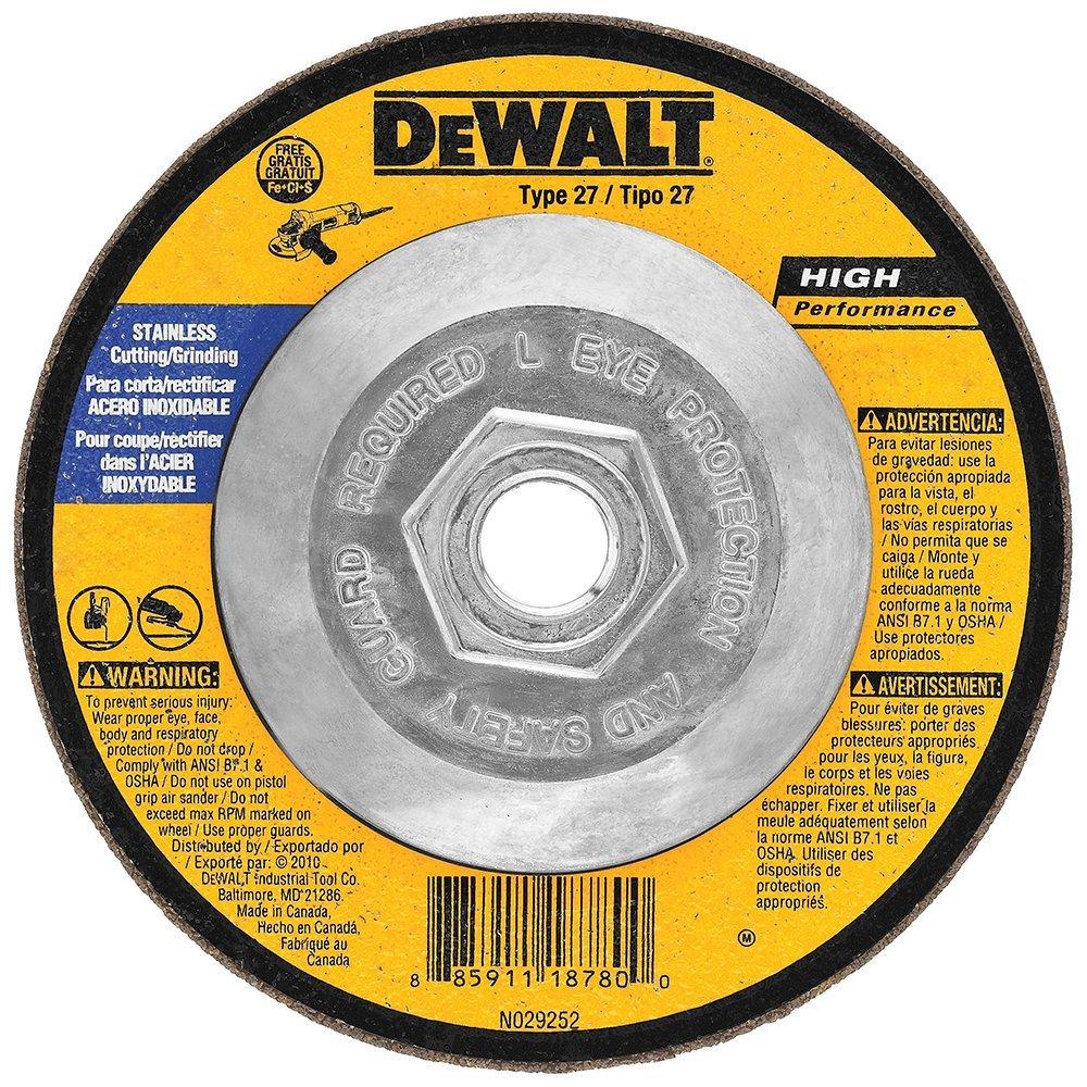 DEWALT DW8415 Stainless Steel Grinding Wheel, 4-1/2 X 1/4 X 5/8-11'