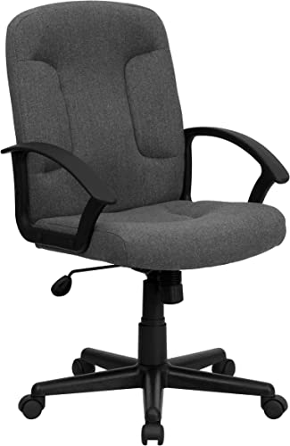 Flash Furniture Mid-Back Gray Fabric Executive Swivel Office Chair