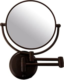 Zadro Wall Mounted Lighted Makeup Mirror: Zadro 10x Mag Next Generation Cordless LED Lighted Double Sided Round Wall  Mirror, 7-,Lighting