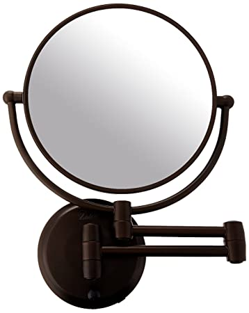 Zadro 10x Mag Next Generation Cordless LED Lighted Double Sided Round Wall  Mirror, 7-