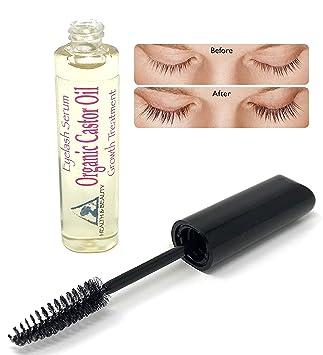 b297ab598e4 Castor Oil Stimulate Eyelash Growth Serum, Grows Longer, Thicker Eyelashes  & Beautiful Eyebrows Cold