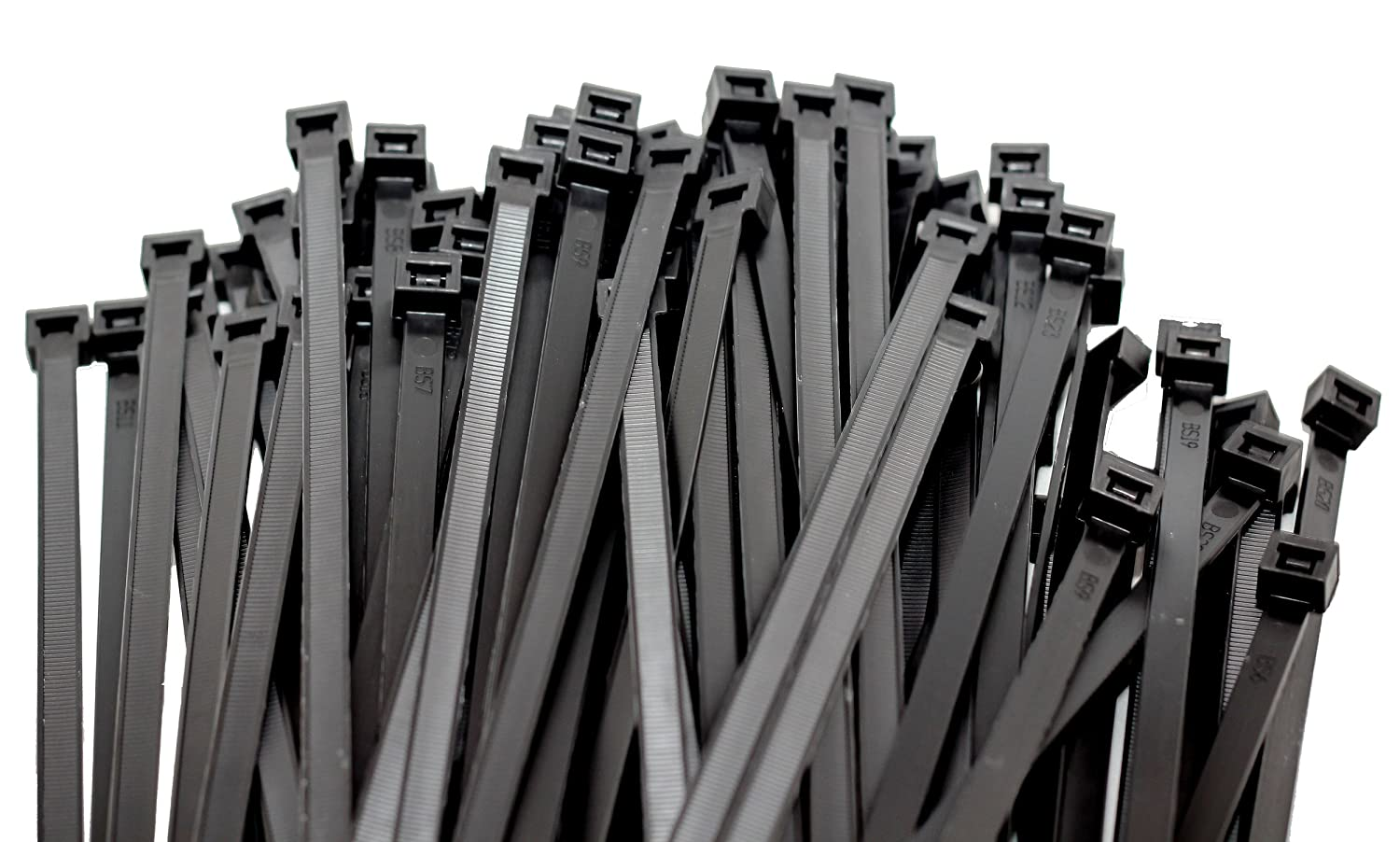 100 Pack Heavy-Duty Cable Ties 15 Inch , Black Nylon Premium Zip Ties for Cable Management