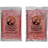 6 Pack Fitness Large Gel Pack - Set of 2 (Red)