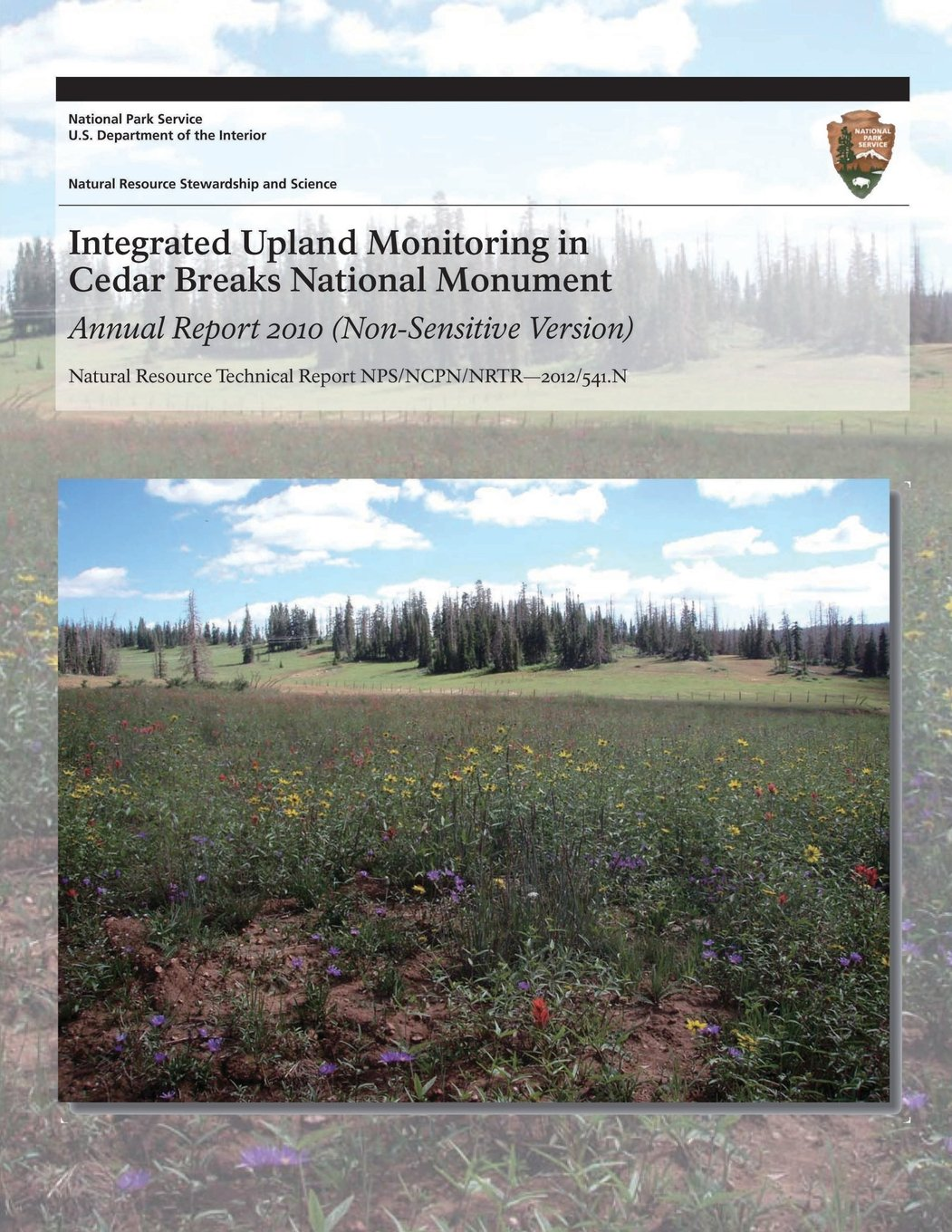 Download Integrated Upland Monitoring in Cedar Breaks National Monument: Annual Report 2010 ebook