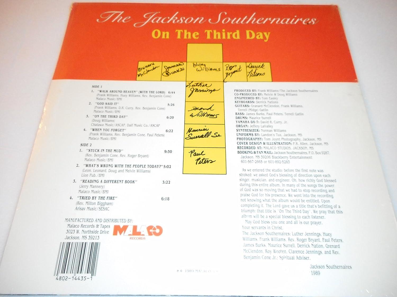 Jackson Southernaires On The Third Day Vinyl Amazon Music