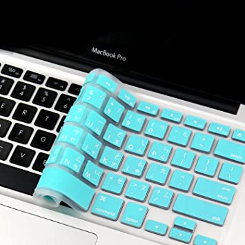 SL TEAL Silicone Keyboard Cover for Macbook White 13/""