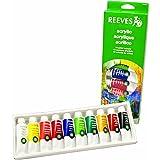 Reeves 10-Pack Acrylic Tube Set, 22ml