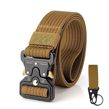 S.Lux - Cinturón táctico, Ajustable de Nailon Militar con Hebilla ...