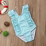 Newborn Baby Girl Floral Swimsuit Ruffles Bathing