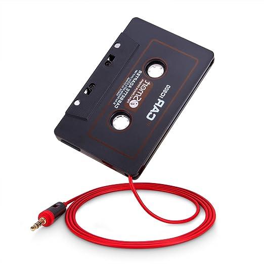 leichtg/ängiges Laufwerk Car Tape kompatibel mit iPhone Android Smartphones MP3-Player Phone Star Autoradio AUX Kassetten Adapter mit 3,5mm Klinke Kabel
