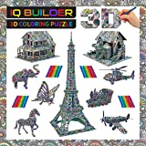 IQ BUILDER | FUN CREATIVE DIY ARTS AND CRAFTS KIT | BEST TOY GIFT FOR GIRLS AND BOYS AGE 8 9 10 11 12 YEAR OLD | EDUCATIONAL ART BUILDING PAINTING COLORING 3D PUZZLE PROJECT SET FOR KIDS AND ADULTS
