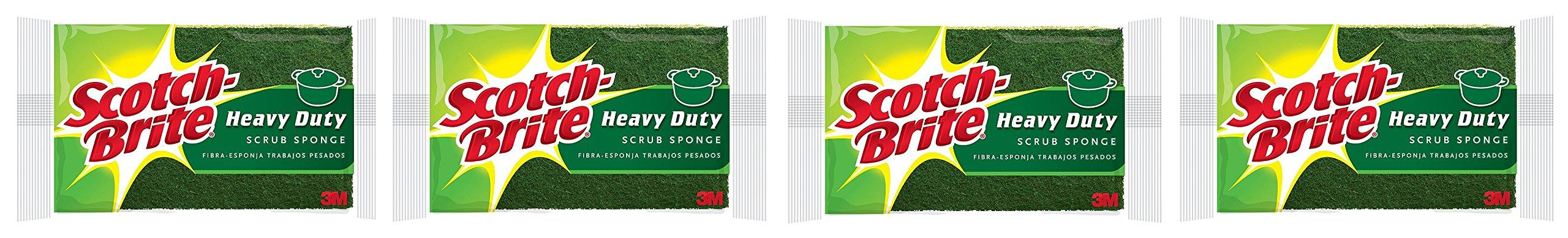 Scotch-Brite Heavy Duty Scrub Sponge REBKHf, 4 Count