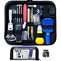 Watch Repair Kit, Battery Replacement Tool Kit/Link Remover Kit, Spring Bar Tool Set with Professional Case Compatible…