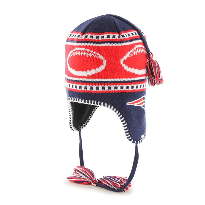 Image Unavailable. Image not available for. Color   47 Kids NFL New England  Patriots Sherpa Style Knit Hat with Tassels Brand ... 77f0c162b