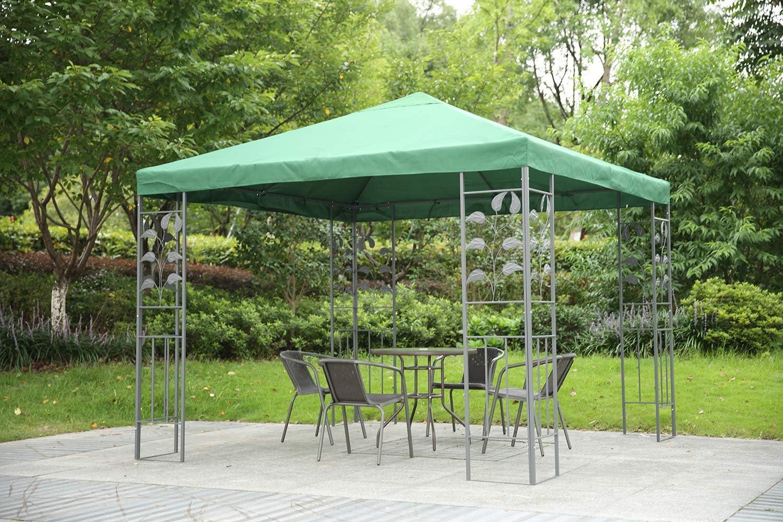 Angel Living Cubierta de Techo de Recambio para 3x3 m Gazebo de Jardín Metal, Techo Simple de reemplazo para Cenador Canopy (Verde): Amazon.es: Jardín