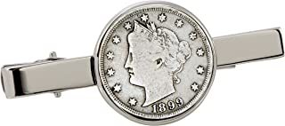 product image for American Coin Treasures 1800's Liberty Nickel Silvertone Coin Tie Clip