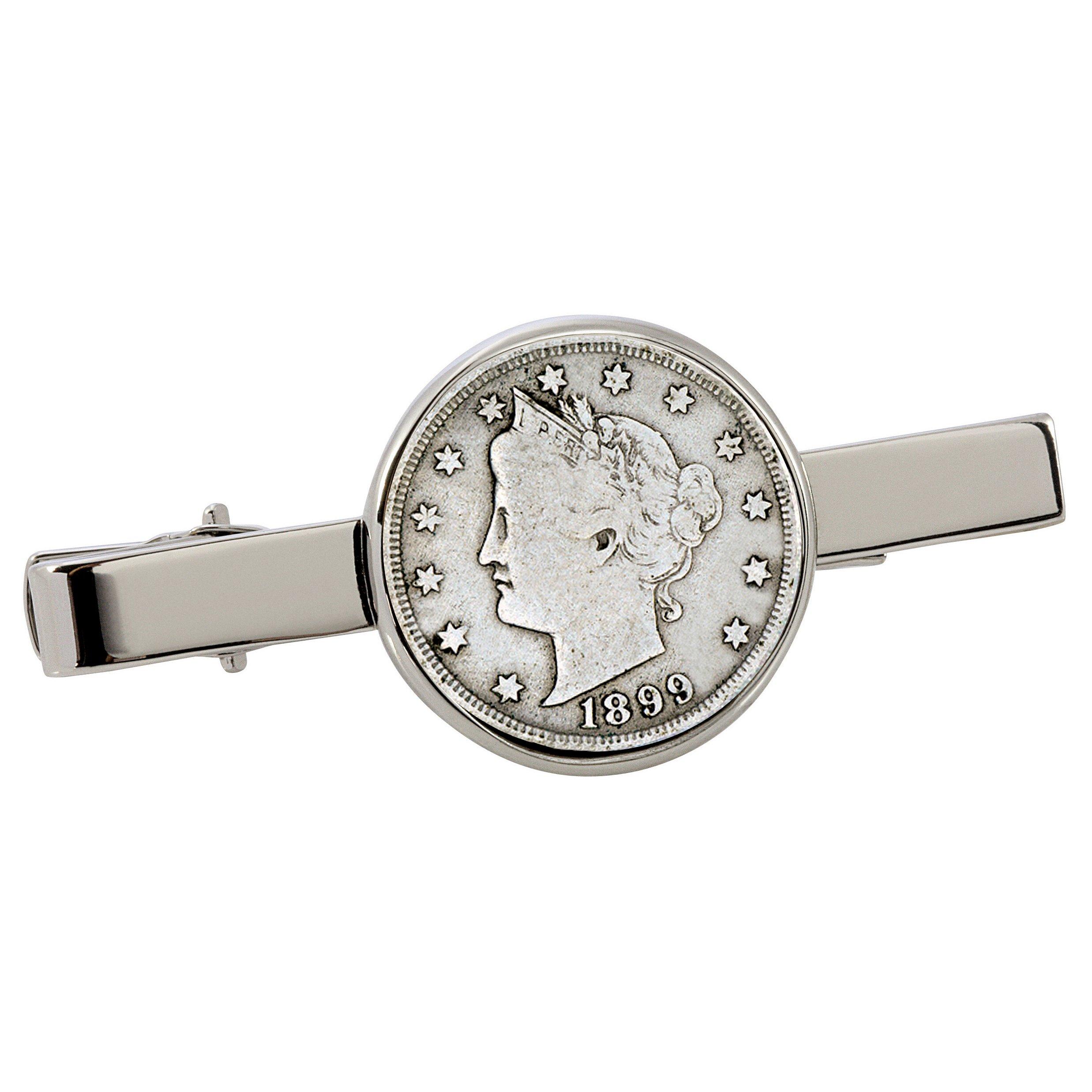 American Coin Treasures 1800's Liberty Nickel Silvertone Coin Tie Clip by American Coin Treasures (Image #1)