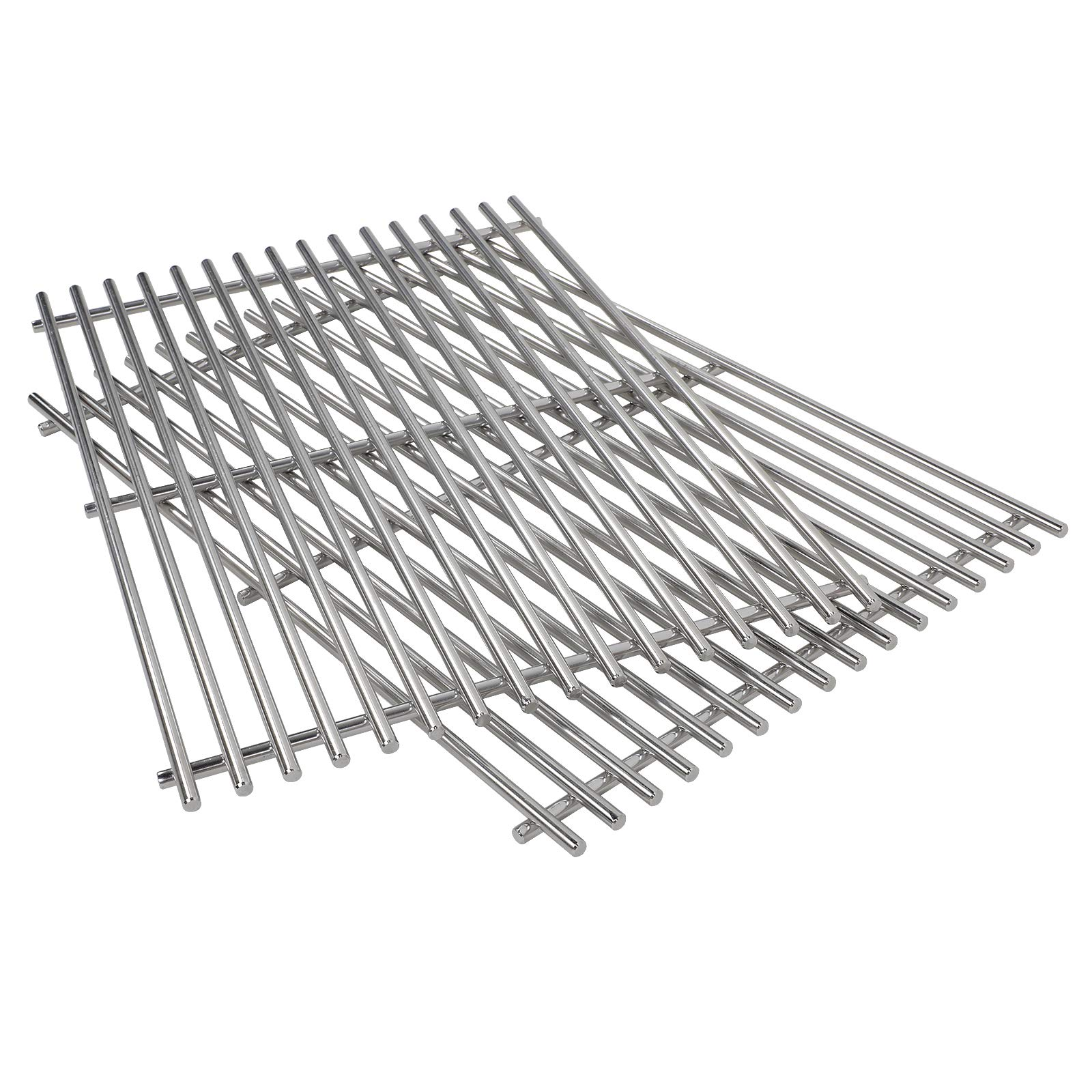 QuliMetal 7639, 304 Stainless Steel Cooking Grates (17.3 x 11.8 x 0.5) for Weber Spirit 300 Series, Spirit 700, Genesis Silver B & C, Genesis Gold B & C, Genesis Platinum B & C by QuliMetal