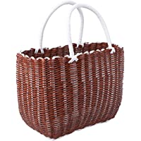 Bestonzon Woven Basket with Handle Large Straw Tote Bag Woven Storage Basket Grocery Shopping Basket Woven Women…