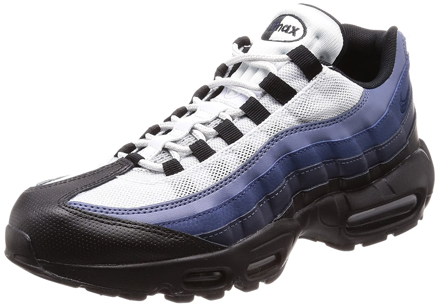 Black Obsidian Navy bluee Nike Air Max 95 No-Sew Men's shoes Grey