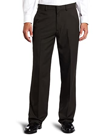 1bff010ba9 Haggar Men's Cool 18 Straight-Fit Gabardine Plain-Front Pant